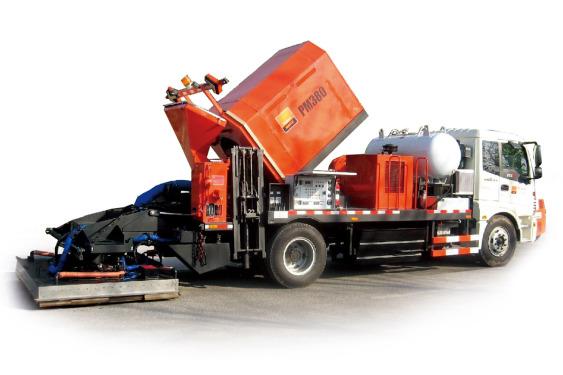 英达PM380沥青路面热再生修补车(修路王)