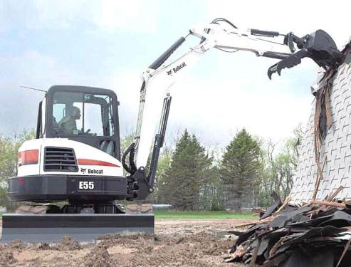 山猫E55小型挖掘机高清图 - 外观