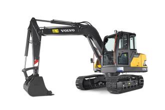 沃尔沃EC75D挖掘机高清图 - 外观