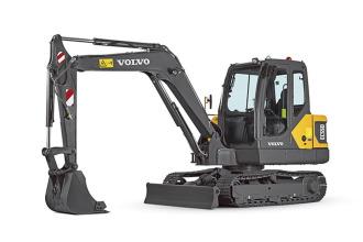 沃尔沃EC55D小型挖掘机高清图 - 外观