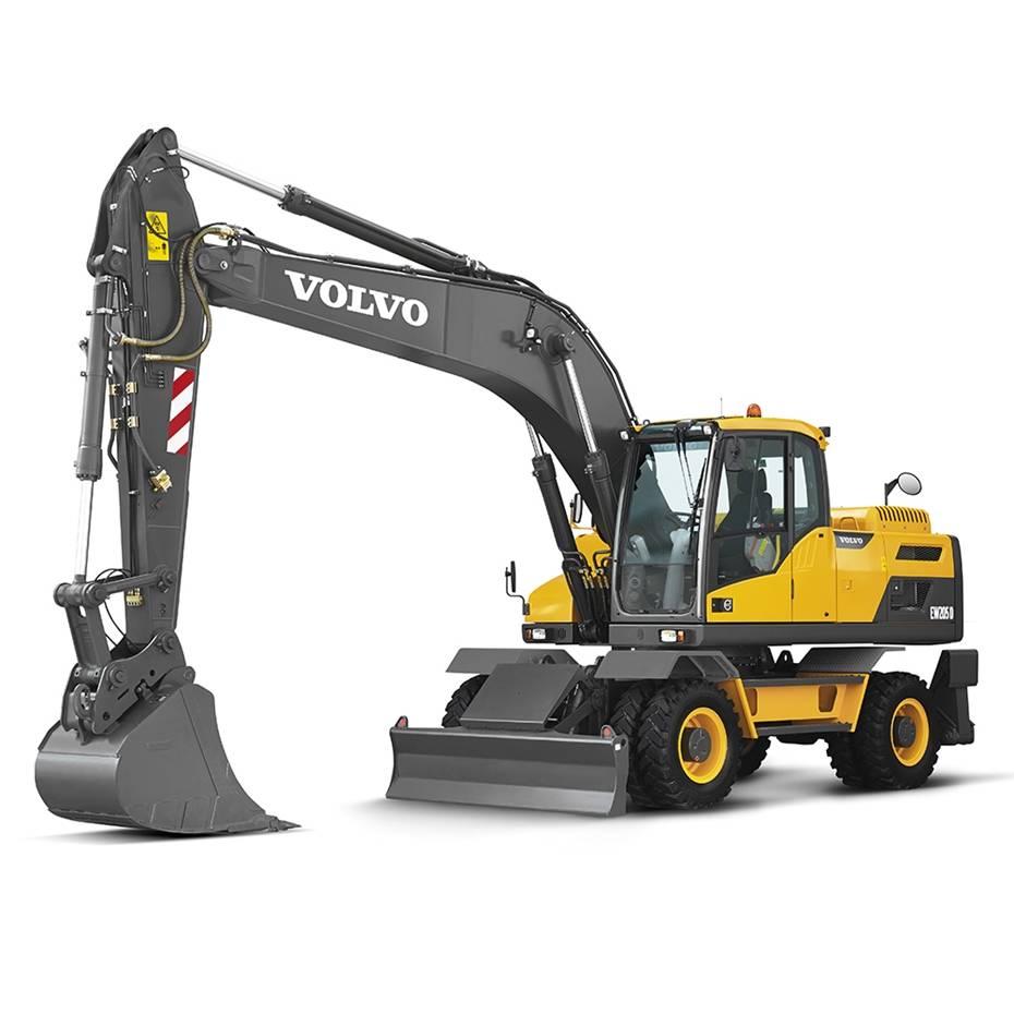 沃尔沃EW205D轮式挖掘机高清图 - 外观
