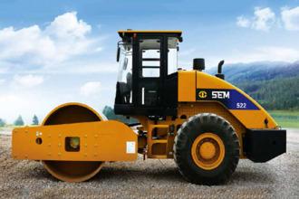 山工SEM522单钢轮压路机高清图 - 外观