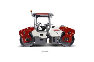 戴纳派克CC6208双钢轮振动压路机高清图 - 外观