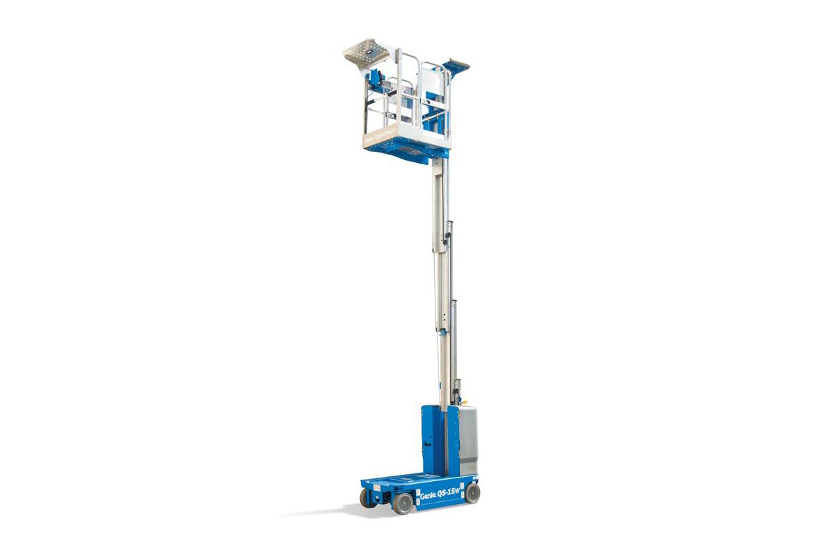 美国吉尼QS-12桅柱式高空作业平台高清图 - 外观