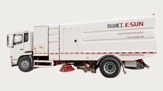 易山重工ESN5180TXSBEV纯电动洗扫车_新能源环卫车厂家直租_多功能绿色环保(实现路面清扫、冲洗、抽吸)