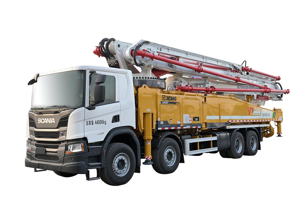 施维英HB58V(X斯堪尼亚)泵车高清图 - 外观