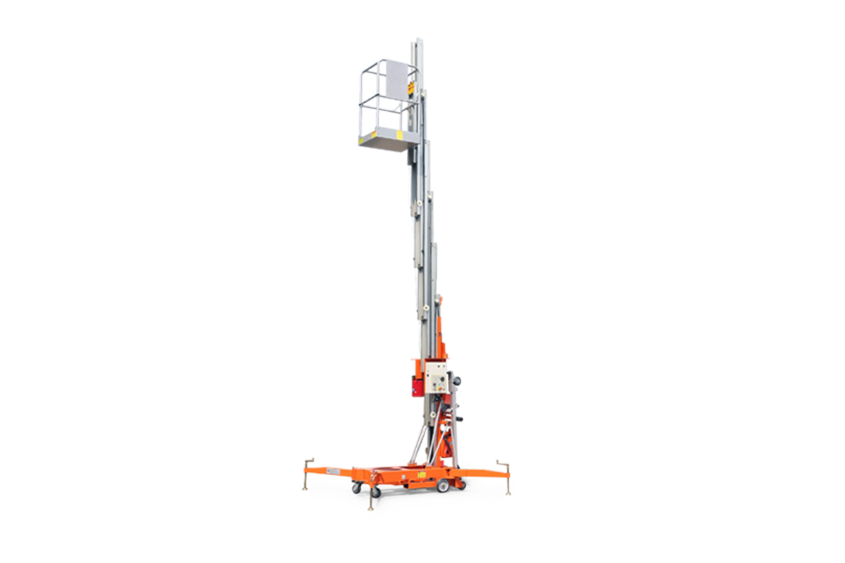 鼎力GTWY12.5-1300移动桅柱式高空作业平台(旋腿式)高清图 - 外观