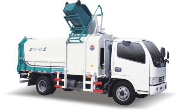 同辉汽车QTH5045ZZZ蓝牌侧装挂桶垃圾车