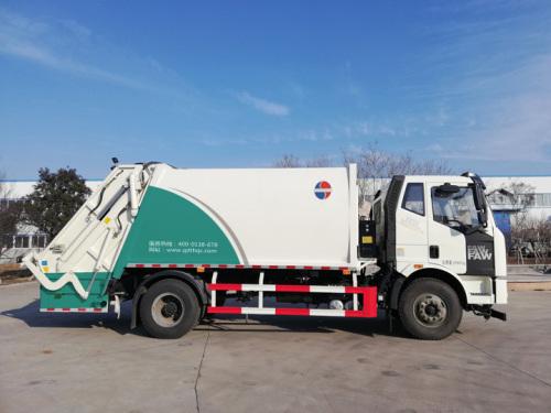 同辉汽车QTH5180ZYS解放底盘14方国六压缩垃圾车高清图 - 外观