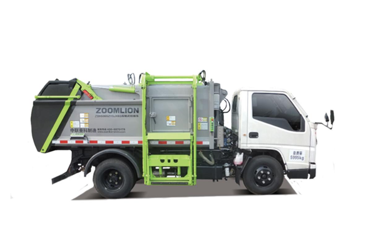 中联重科ZBH5073ZYSEQY6压缩式垃圾车(侧上料)高清图 - 外观