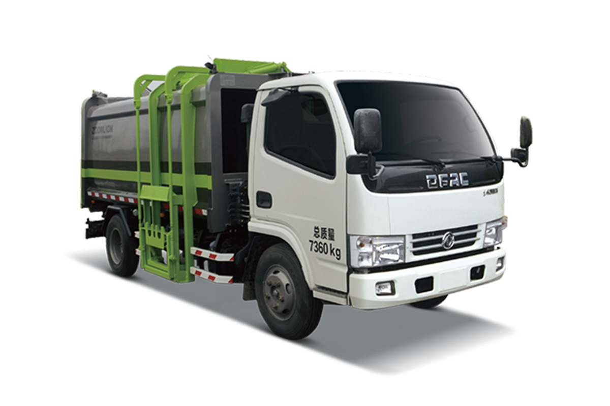 中联重科ZLJ5073ZYSEQE5压缩式垃圾车(侧上料)高清图 - 外观
