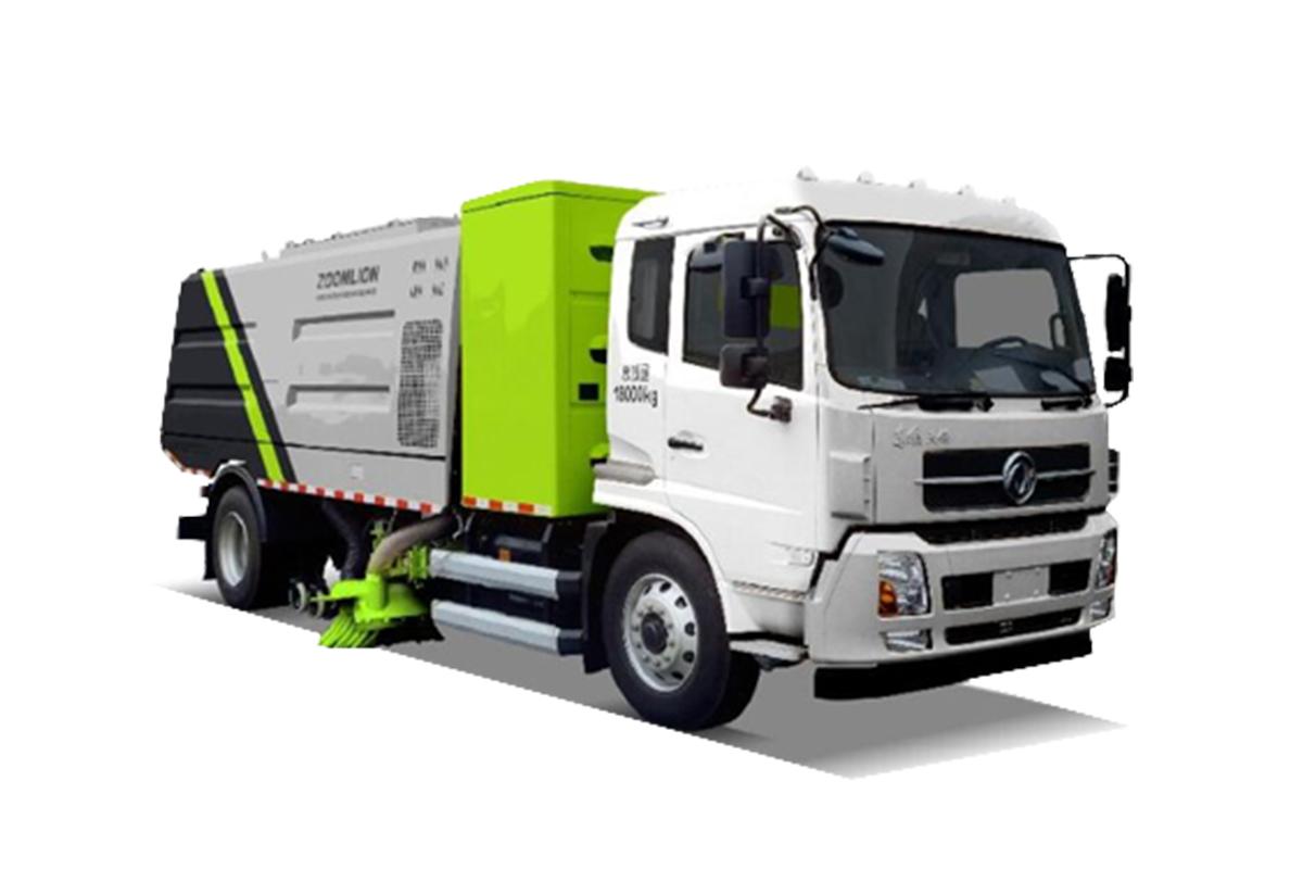 中联重科ZBH5184TSLEQBEV干式扫路车高清图 - 外观