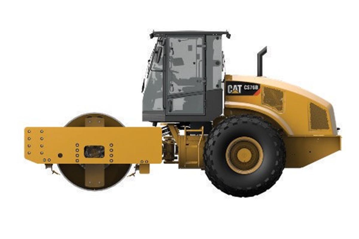 卡特彼勒CS76B单钢轮振动压路机高清图 - 外观
