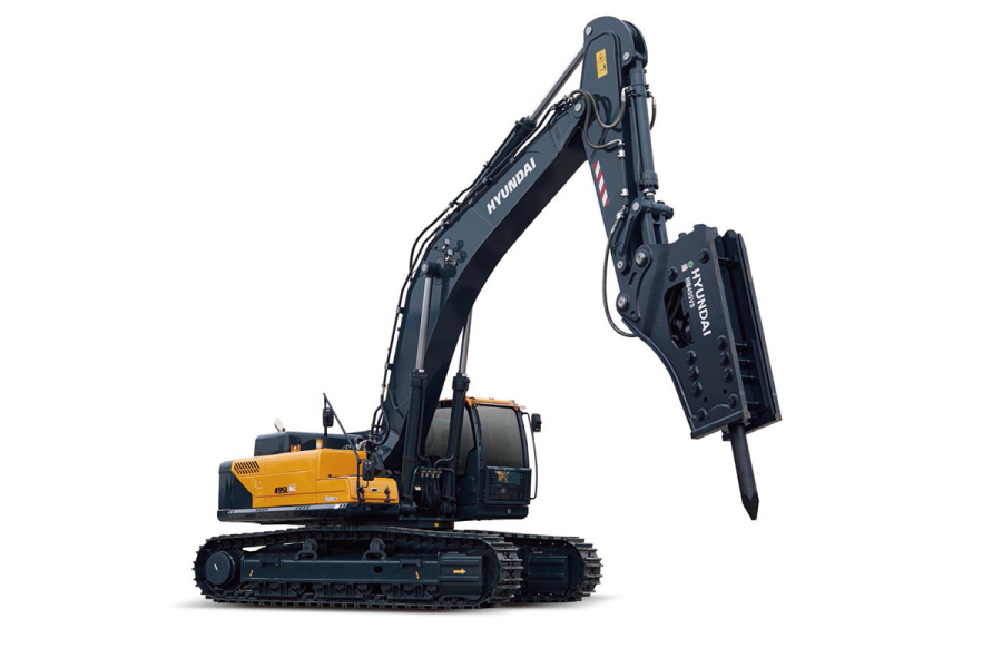 现代重工495L VS挖掘机