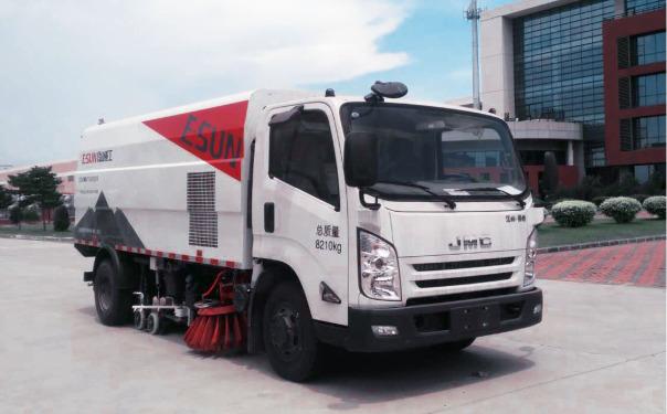 易山重工ESN5080TXSE6国六8吨洗扫车_路面清洗车_江铃底盘