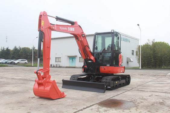 久保田KX155-5无尾回转小型挖掘机高清图 - 外观