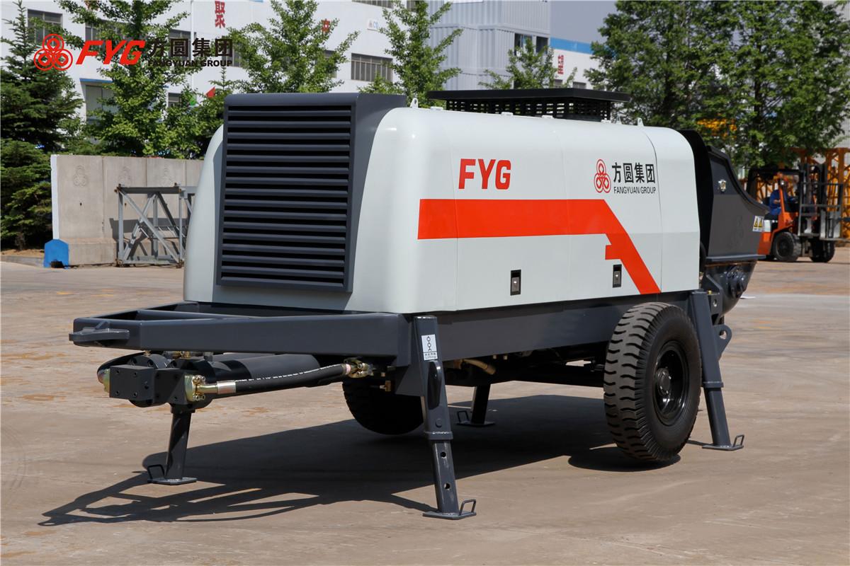 方圆HBTS系列电动机混凝土拖泵高清图 - 外观