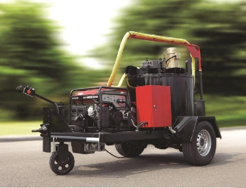 易山重工CLYG-ZS350小型自走式灌缝机、水泥沥青裂缝修补(体积小、重量轻、携带方便)