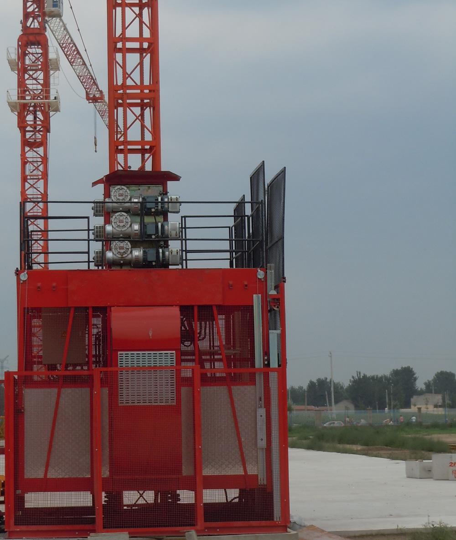 中建机械变频低速SC200/200施工升降机高清图 - 外观