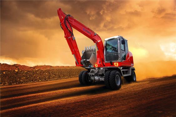 厦工XG8075W轮式挖掘机