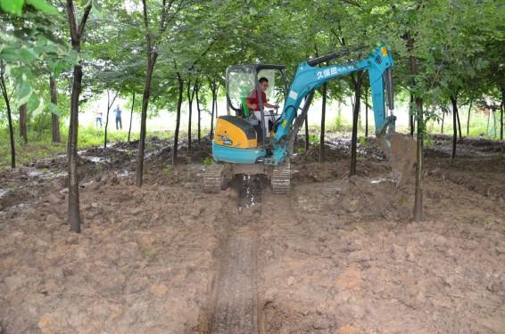 久保田U30-5小型挖掘机高清图 - 施工案例