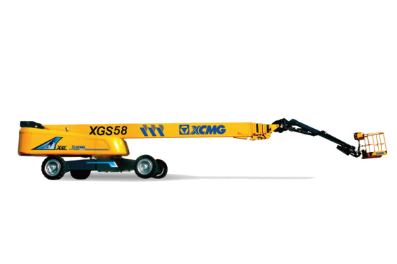 [720 ° panoramic display] XCMG XGS58 telescopic boom aerial working platform