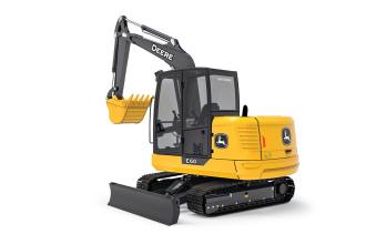 约翰迪尔E60挖掘机高清图 - 外观