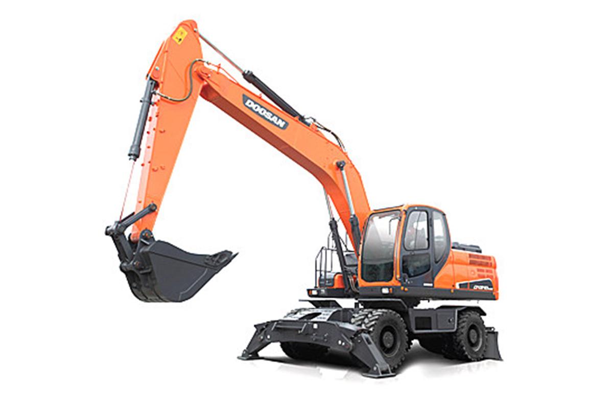 斗山DX210W-9C輪式挖掘機