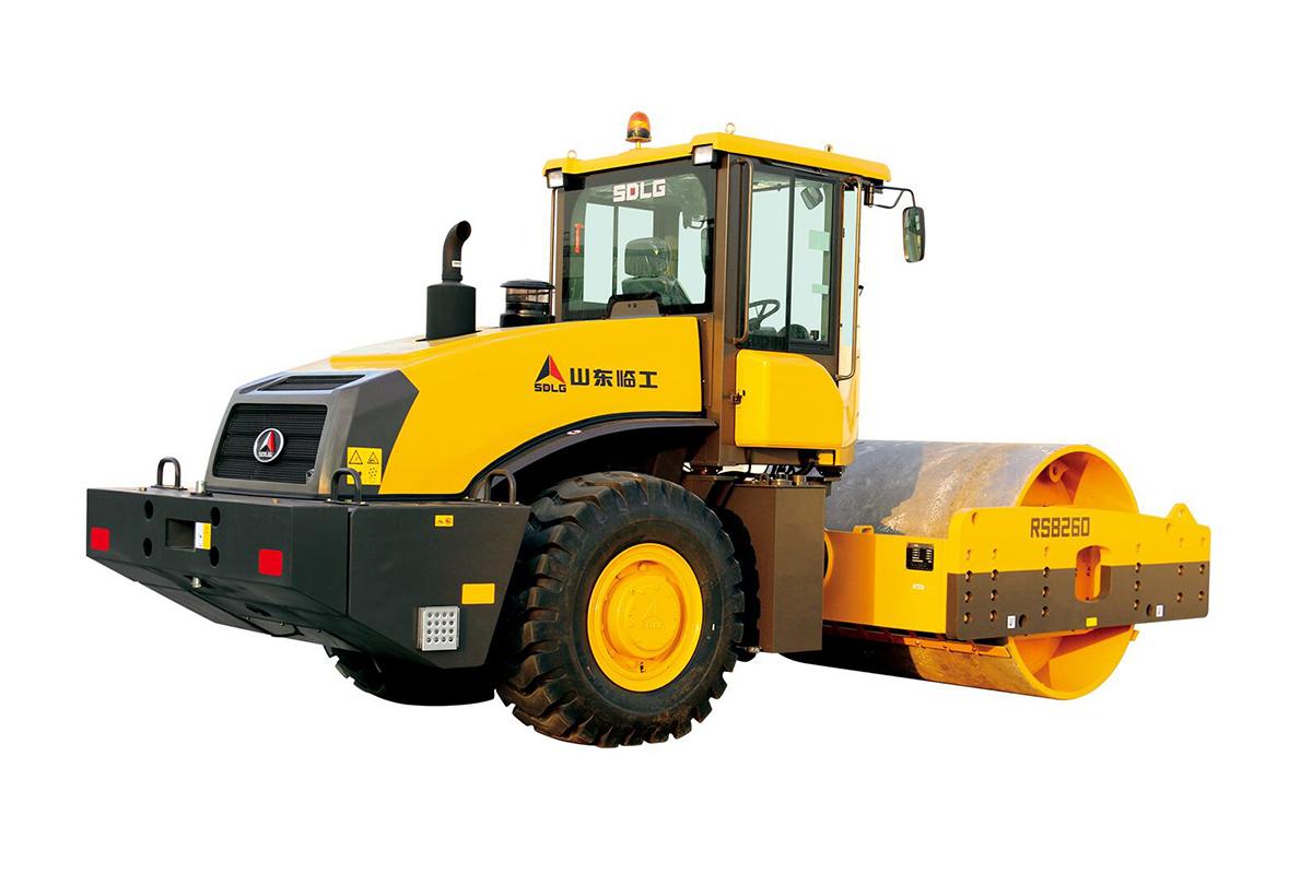 山东临工RS8260机械式单钢轮振动压路机高清图 - 外观