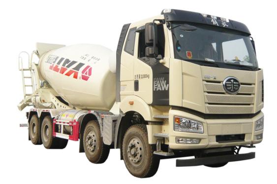 亚特重工TZ5310GJBCCFNG国六解放LNG  8*4混凝土搅拌运输车
