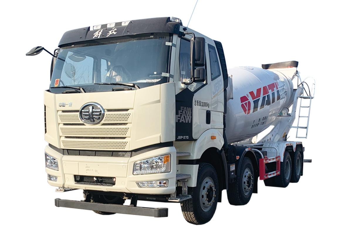 亚特重工TZ5310GJBCE5E解放  8*4混凝土搅拌运输车高清图 - 外观