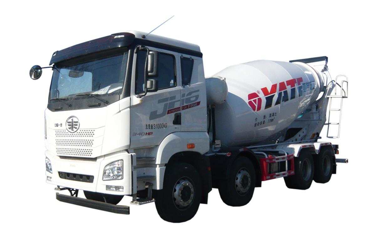 亚特重工TZ5310GJBCCEA80青岛解放  8*4混凝土搅拌运输车高清图 - 外观
