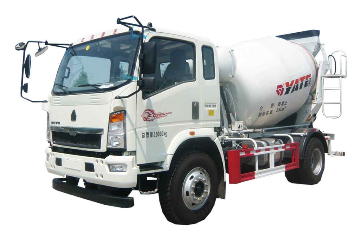 亚特重工TZ5167GJBZG4E豪泺轻卡  4*2混凝土搅拌运输车高清图 - 外观