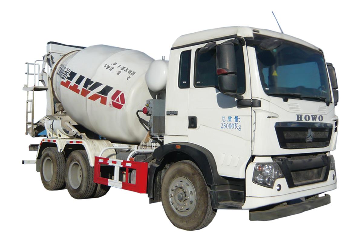 亚特重工TZ5257GJBZG6E豪泺  6*4混凝土搅拌运输车高清图 - 外观