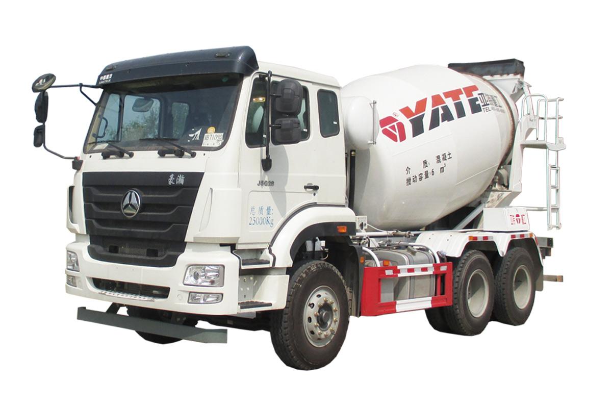 亚特重工TZ5255GJBZ6EJ5G豪瀚  6*4混凝土搅拌运输车高清图 - 外观