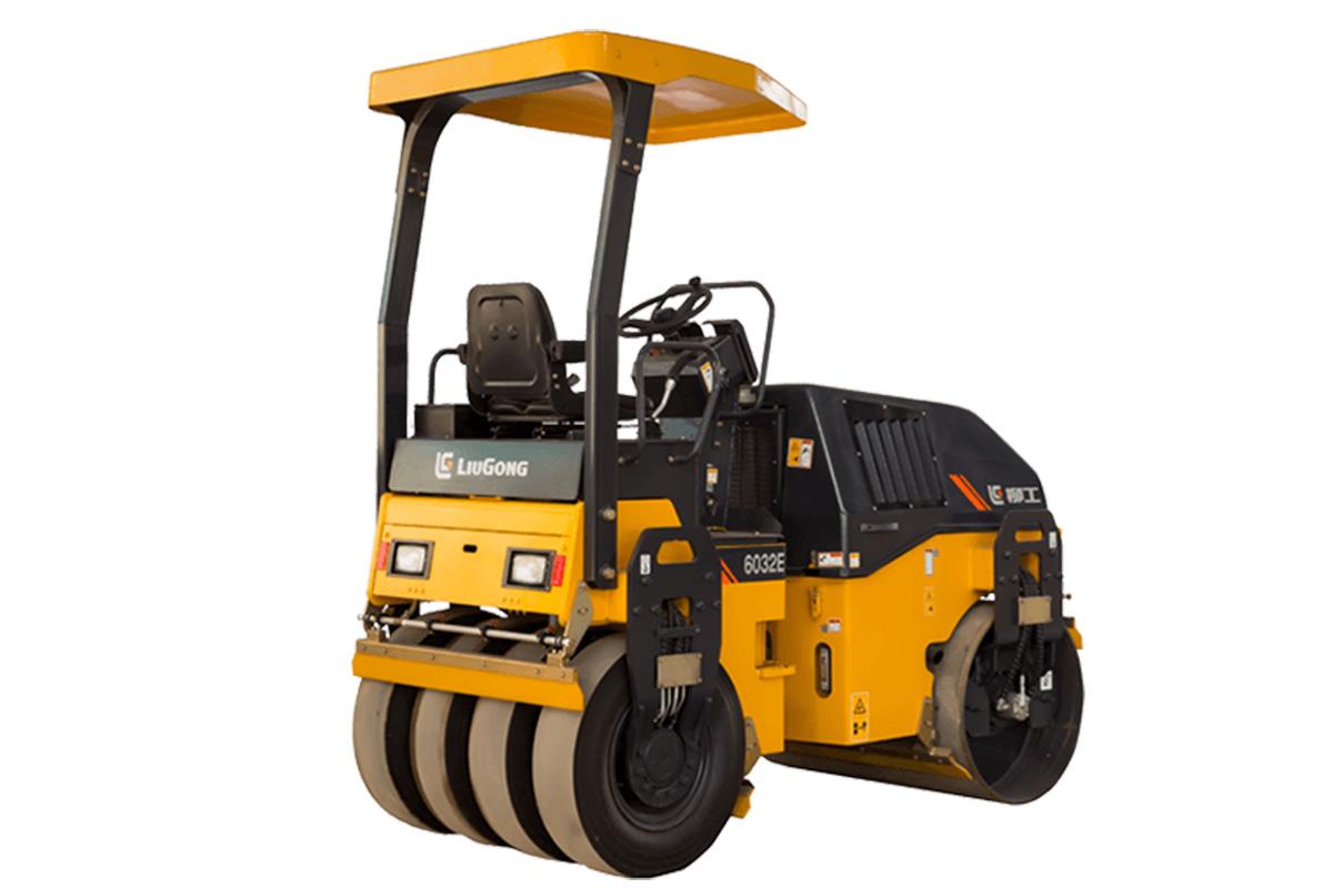 柳工CLG6032小型养护双钢轮压路机高清图 - 外观