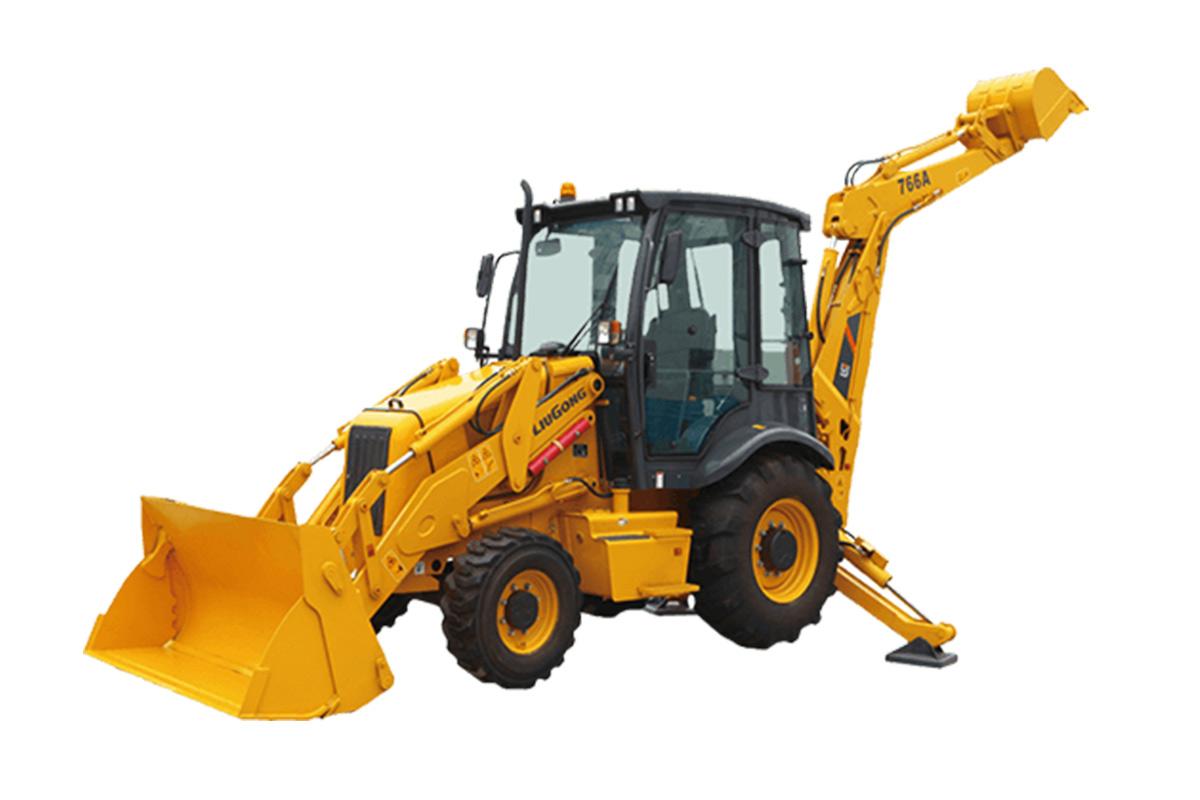 柳工CLG766A挖掘装载机高清图 - 外观