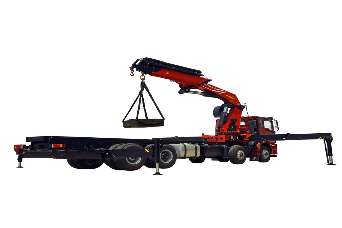 三一重工SPK7400270.1吨米折臂式随车起重机高清图 - 外观