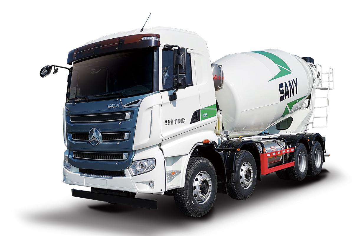 三一重工SY410C-10W( Ⅵ )LNG搅拌运输车高清图 - 外观