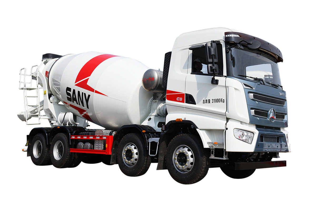 三一重工SY412C-10S( Ⅵ )-D混凝土搅拌运输车高清图 - 外观