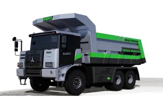 三一重工SKT90E纯电动宽体自卸车