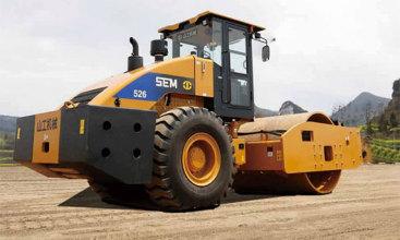 山工SEM526单钢轮压路机高清图 - 外观