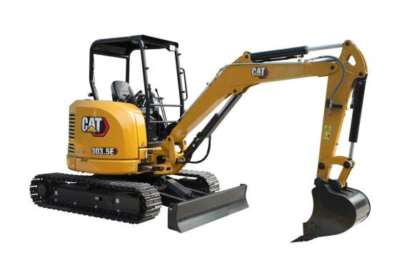 卡特彼勒Cat?303.5E CR驾驶棚迷你型挖掘机