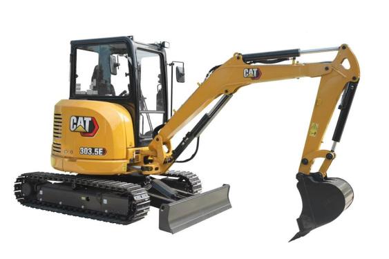 卡特彼勒Cat?303.5E CR驾驶室小型液压挖掘机