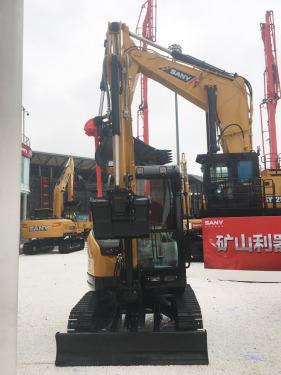 三一重工SY35U微型挖掘机高清图 - 2020宝马展实拍