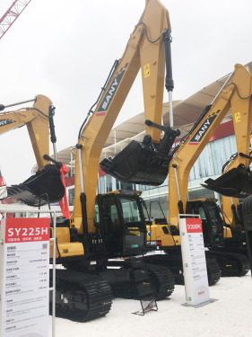 三一重工SY205DPC挖掘机高清图 - 2020宝马展实拍