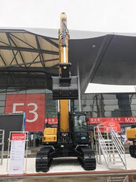 三一重工SY375H大型挖掘机高清图 - 2020宝马展实拍
