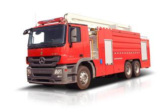 中联重科ZLF5312JXFJP18举高喷射消防车高清图 - 外观