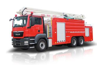 中联重科ZLF5315JXFJP25举高喷射消防车高清图 - 外观