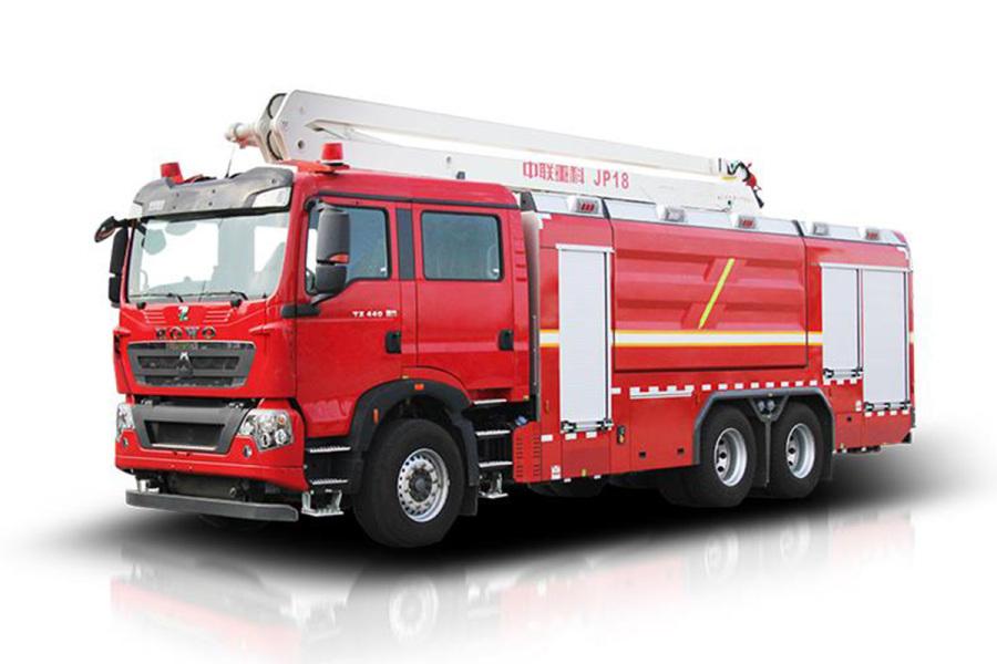中联重科ZLF5340JXFJP18举高喷射消防车